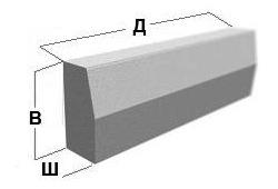 Объем бордюрного камня железобетонные ограды серия